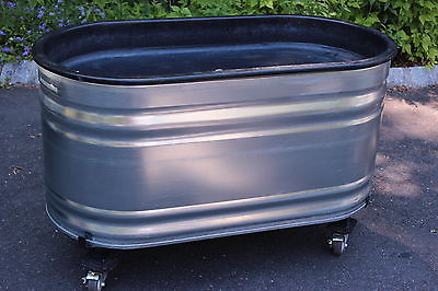 MARCO Galvanized COOLER Rolling Ice Tub Commercial CHILLER Dolly URBAN PLANTER