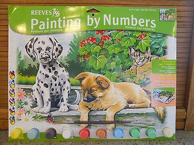 Paint By Number Puppies Kitten 12