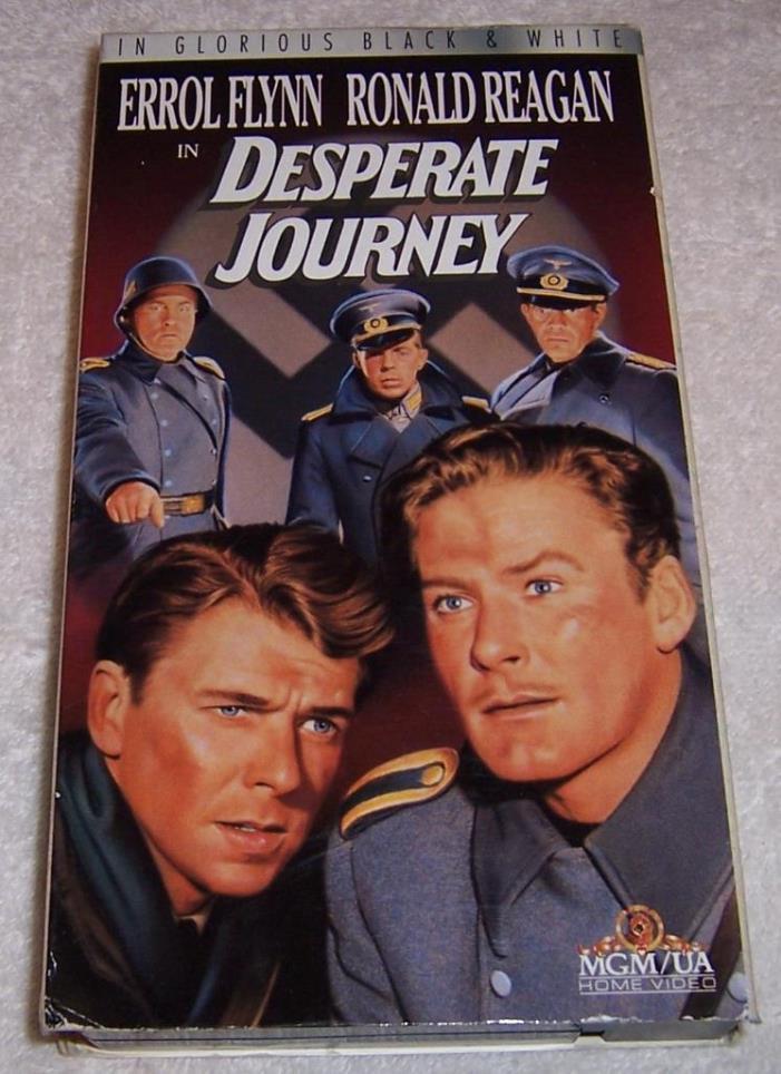 Desperate Journey VHS Video Errol Flynn Ronald Reagan