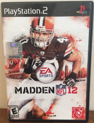 MADDEN NFL 12 Sony PlayStation 2 PS2 COMPLETE Tested VERY NICE Rare FREE S/H!!