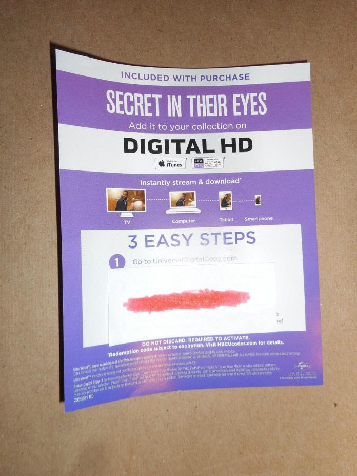 Secret in Their Eyes HD Digital Code 2015