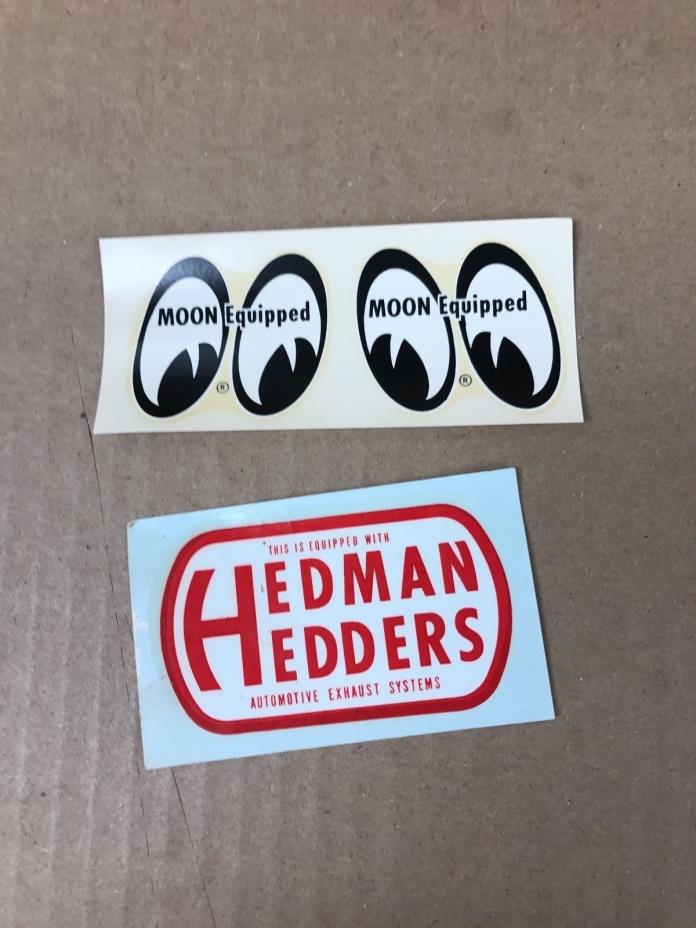 VINTAGE ORIGINAL 60'S MOON EQUIPPED AND HEDMAN HEDDERS DECALS 4