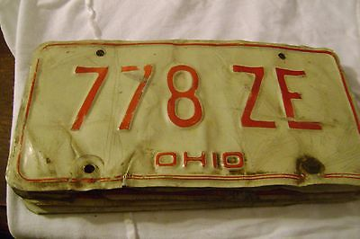 Ohio-(1980.)=-License Plate # 778-ZE( 12