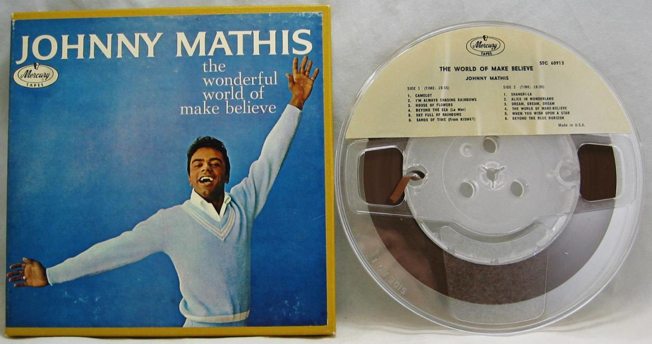 Johnny Mathis Wonderful World of Make Believe 4 Track Reel to Reel 7 1/2 IPS