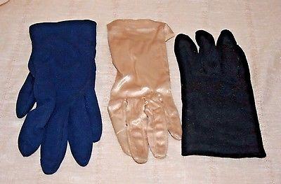 Vintage Ladies Dress Gloves Three Pair Lot 3