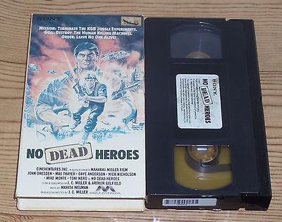 No Dead Heroes (1986, VHS) Vietnam War Horror Vet Microchip Killer Gore RARE