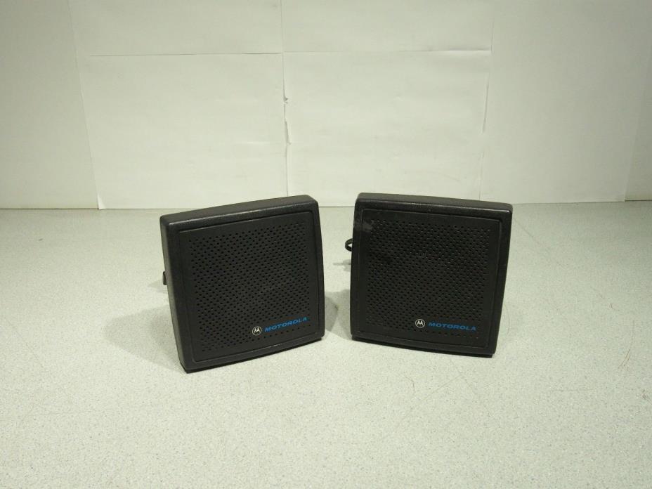 Lot of 2 Motorola Radio Speakers HSN4019A Tested Working