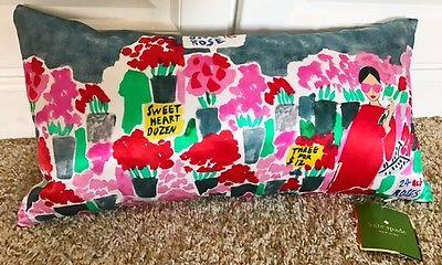 NWT $90 Kate Spade New York New Rose Flower Mkt print 20x10