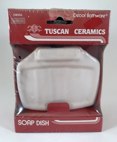 FRANKLIN BRASS D8006 Tuscan Ceramics Soap Dish, Bath Hardware Accessory IVORY