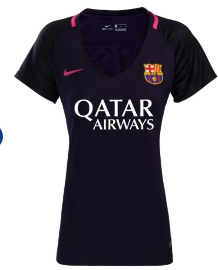 Nike FC Barcelona - SMALL Womens Soccer Away Jersey Purple - Gray