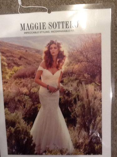 Maggie Sottero Wedding Dress -  Afton - Size 12 - Ivory/lt. Gold