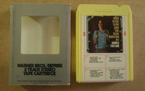 Mud Slide Slim Blue Horizon by James Taylor 8  track tape tested w/ sleeve MB