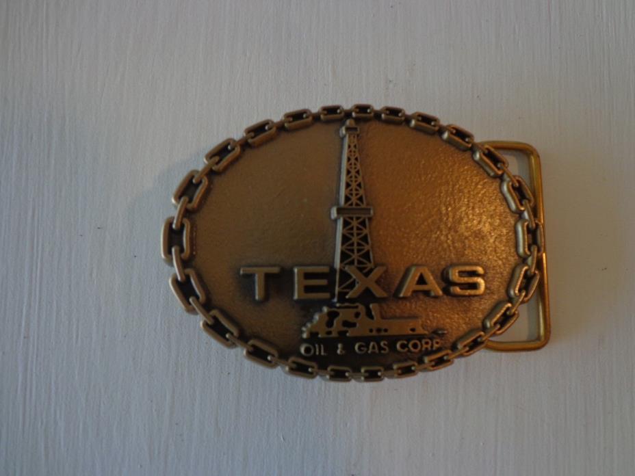 Vintage Belt Buckle Texas Oil & Gas Corp. By Jostens
