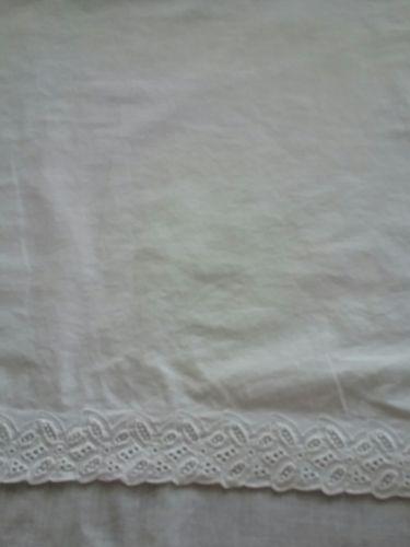 White eyelet  twin bedskirt