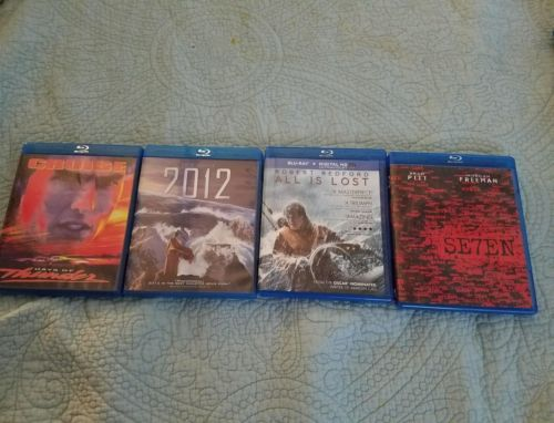 Lot of 4 Action Adventure Blu-ray DVD's