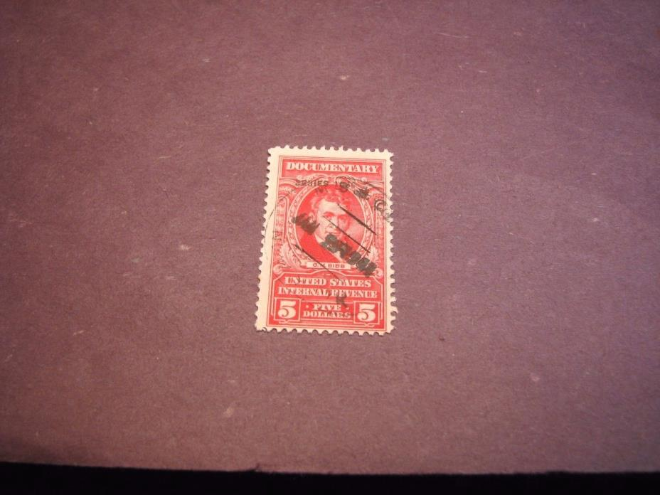 US Stamp Back of Book Scott# R304 Bibb  Used 1940 C222