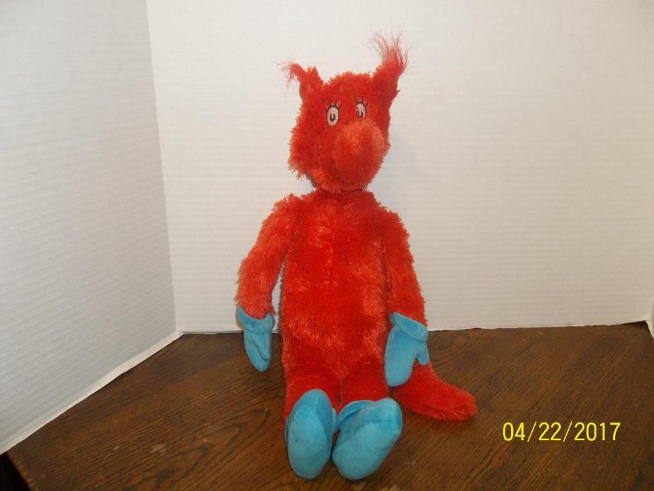 KOHL'S CARES FOR KIDS DR SEUSS RED FOX IN SOX PLUSH 20
