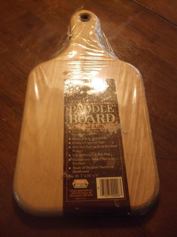 vtg wood cutting paddle board, 7 by 14