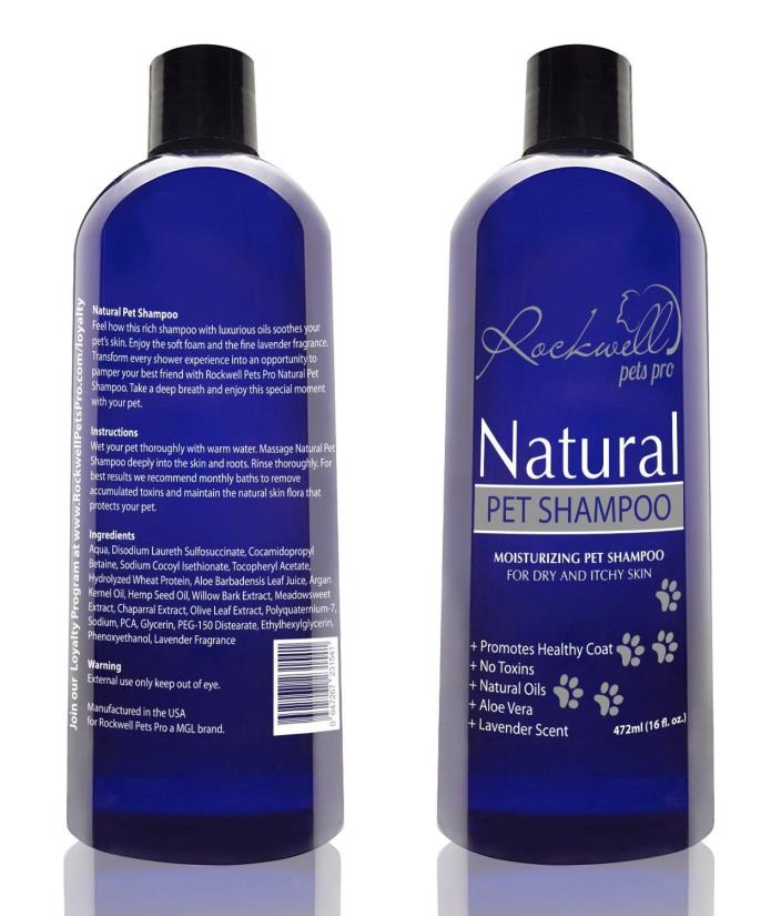 Natural Dog Shampoo for dry and itchy skin made in the USA (16 fl. oz.)