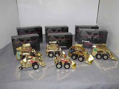 Bobcat Skid Steer GOLD Set of 6 Different 1/25 scale Toys LIMITED SET!!!