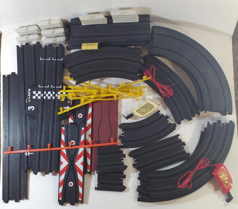Lot of Various Tyco and Aroura Slot Car Tracks and Parts