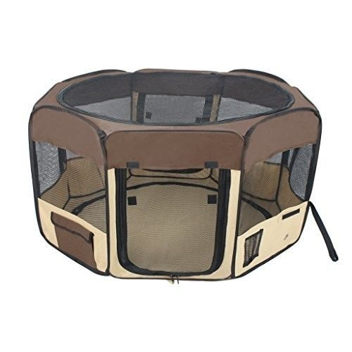 Portable Dog Cat Rabbit Puppy Pet Playpen Exercise  Kennel with Carry Bag