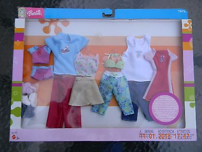 NEW!  Barbie/Ken Gift Set,  6 Outfits (4 Barbie, 2 Ken)