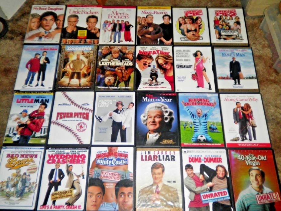 24 DVD Movie Lot SOME OF THE  BEST COMEDY MOVIES!