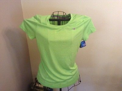 NWT CHAMPION Womens Powertrain Heather Short Sleeve Tee, Aurora Green, Sz Small
