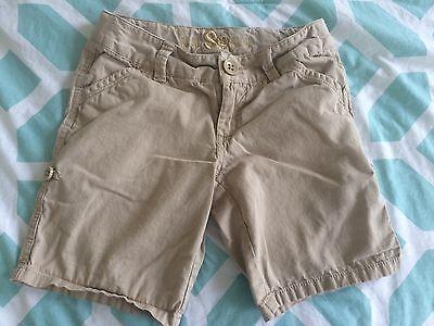 So Khaki/Tan Girls Shorts adjustable wasit band Size 7 100% Cotton SPRING/SUMMER
