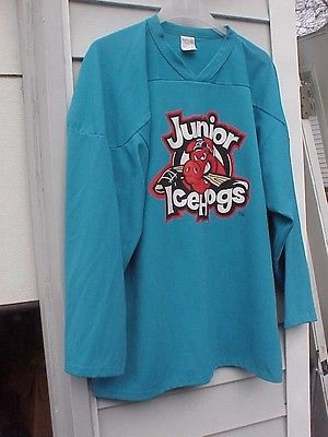 ROCKFORD ICE HOGS  JERSEY BLUE JUNIOR ICE HOGS # 25 MEN'S LARGE # 25