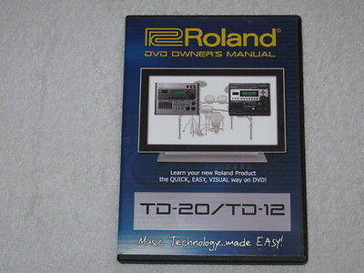Roland TD-20 and TD-12 DVD video training tutorial Owners Manual