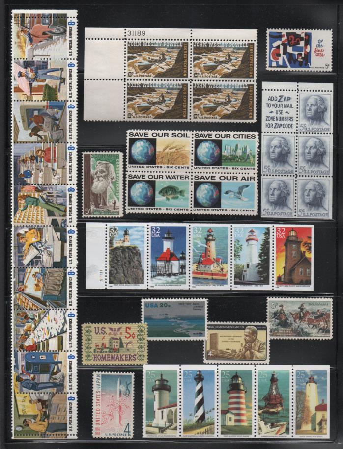 United States, Mint Stamp Assortment