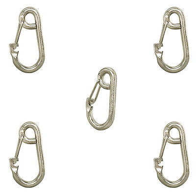 5 Pc 5/16'' Stainless Steel Marine Boat Spring Snap Type Harness Clip
