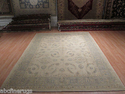 9x12 Museum Allover-Pattern Vegetable Dye Handmade-knotted Wool Rug 580684