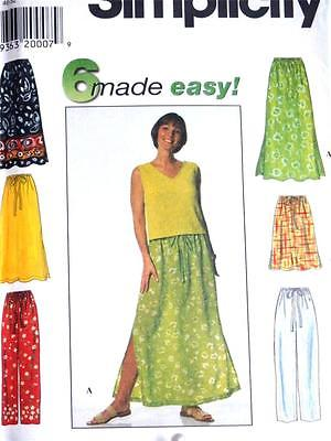 NEW FAB SET OF SKIRTS AND NO SIDE SEAM PANTS Misses Sewing Pattern 7513 18 - 24