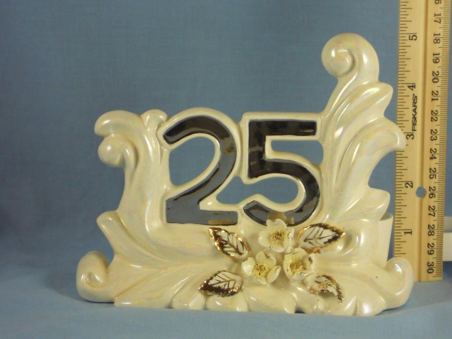 Vintage 25th Anniversary GOLDEN DOGWOOD Taper Candle Holder JAPAN