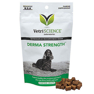 Vetriscience Labs Derma Strength Skin and Coat for Dogs - 30 Count