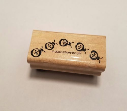 Stampin Up! Itty Bitty Borders Ladybug Wood mounted great condition 2002     C12