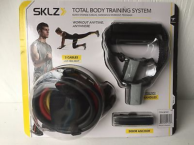 SKLZ Total Body Training System 3 Cable Door Anchor 3 Week Workout Program NEW