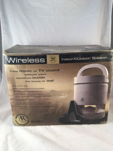 NEW AR Acoustic Research AW811 Indoor/Outdoor Wireless Speaker 900 MHZ
