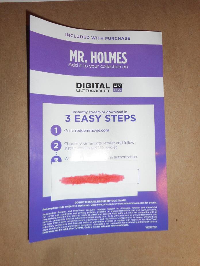Mr Holmes Digital Code Ian McKellen