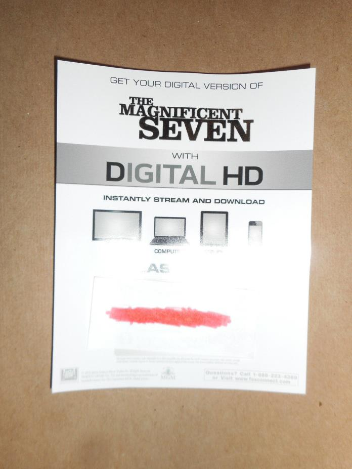 The Magnificent Seven (1960 & 2016) Digital Codes