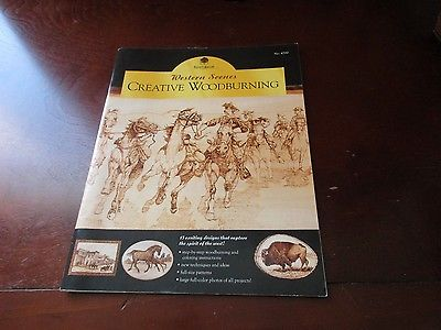 Western Scenes Creative Woodburning Walnut Hollow #4700 PB GUC