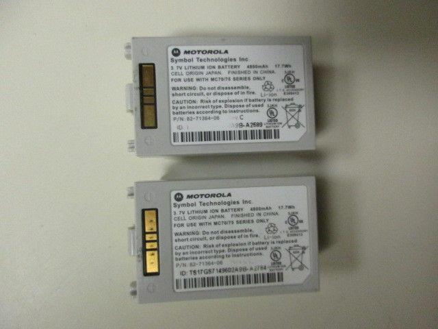 Lot of (2) Motorola Symbol MC70 MC75 Series Extended Battery 82-71364-06