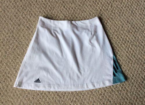 ADIDAS White Tennis Skirt Side Zipper Women's Size 10