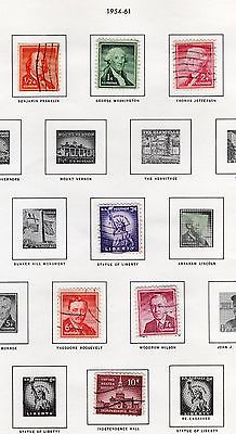 United States Stamps 1954 -1969