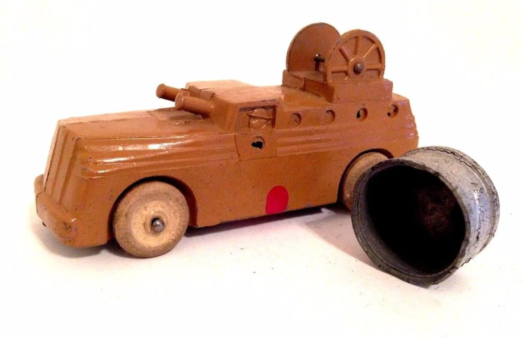 Vintage Barclay Lead Soldiers Search Light Truck - Dimestore Toy