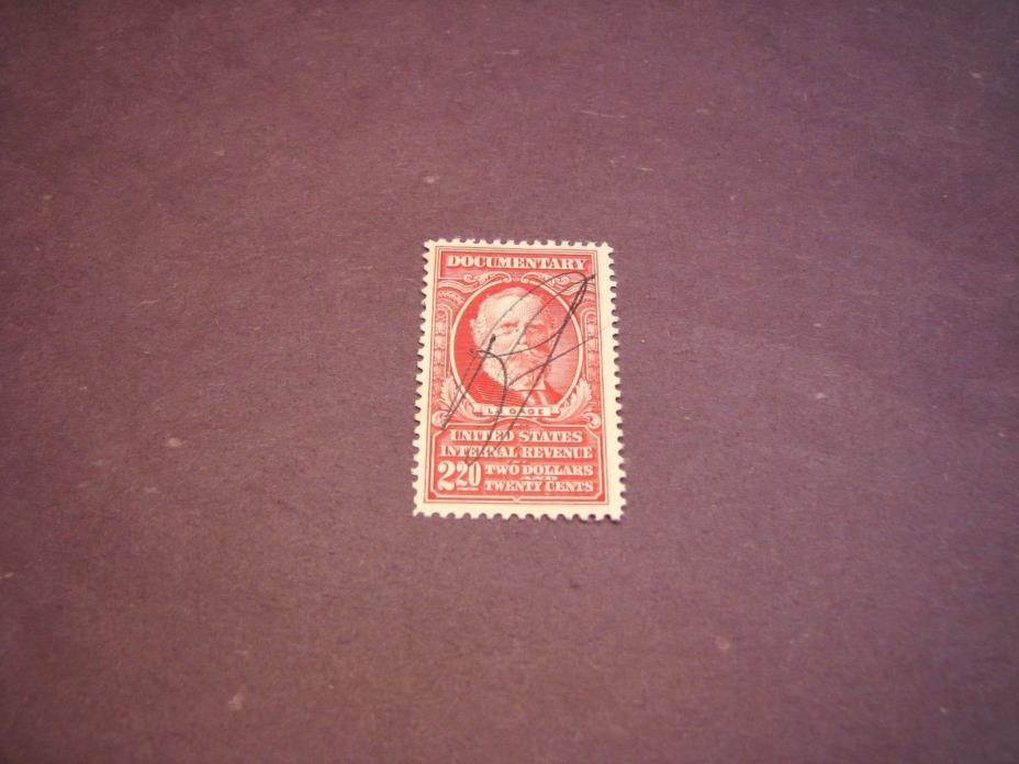 US Stamp Back of Book Scott# R671 Gage  1954 C223