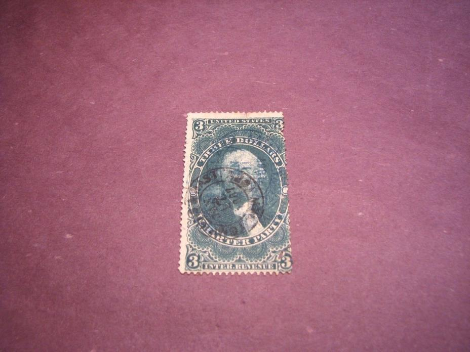 US Stamp Back of Book Scott# R85 Charter Party 1862-71 C222